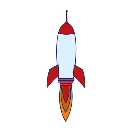 space rocket icon over white background, vector illustration Illustration