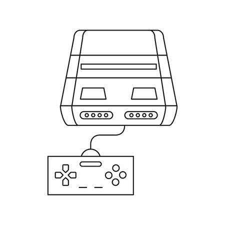 video game console device with control vector illustration design Ilustrace