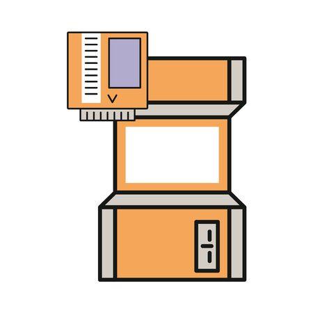 video game retro machine icon vector illustration design Ilustrace