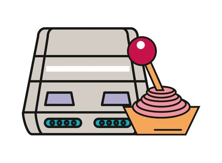 video game console device with joystick control vector illustration design