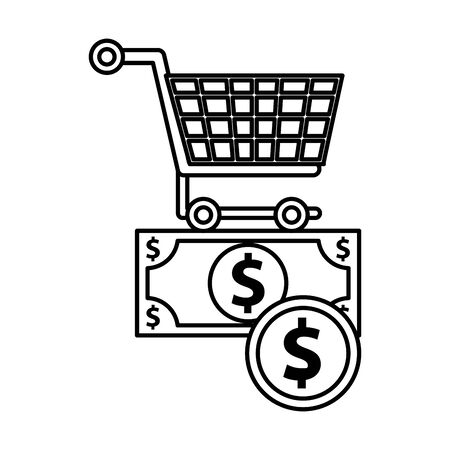 shopping cart transport isolated icon vector illustration design