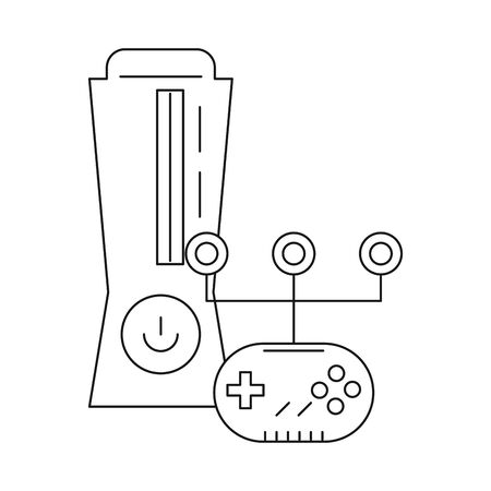video game console device with control vector illustration design
