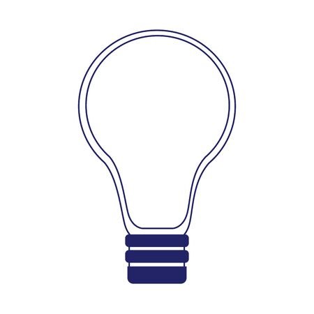 light bulb icon over white background, flat design, vector illustration