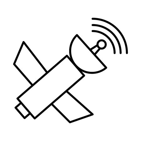 satellite antena communication isolated icon vector illustration design