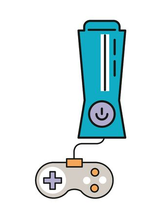 video game console with control icon vector illustration design