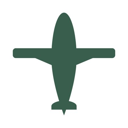 airplane military force isolated icon vector illustration design Illustration