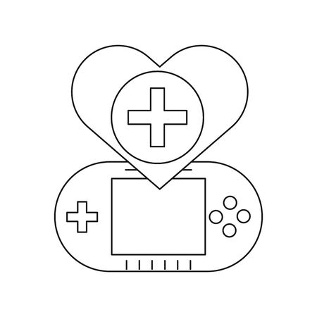 video game portable with heart vector illustration design