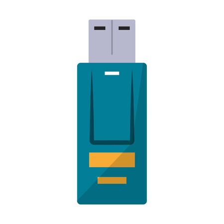 usb memory icon cartoon vector illustration graphic design