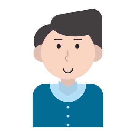 man avatar cartoon character portrait profile vector illustration graphic design