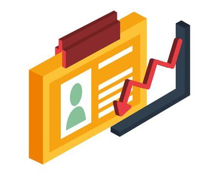 financial statistics graphic isolated icon vector illustration design