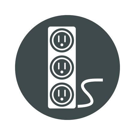 electric multy plug isolated icon vector illustration design Çizim