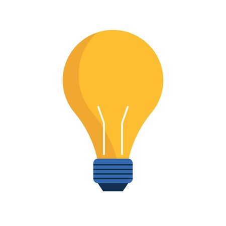 light bulb icon over white background, vector illustration