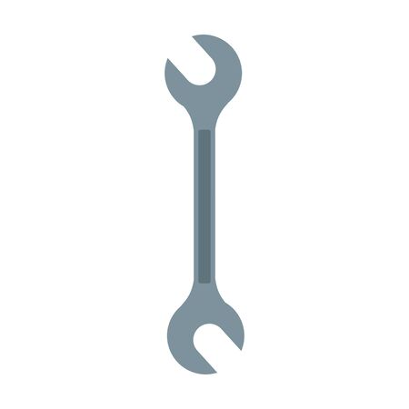wrench tool icon over white background, colorful design, vector illustration