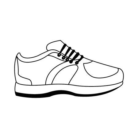 sport shoe icon over white background, flat design, vector illustration Çizim