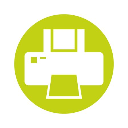 computer printer hardware device isolated icon vector illustration design