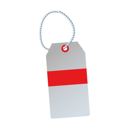 price tag icon over white background, colorful design, vector illustration Illusztráció