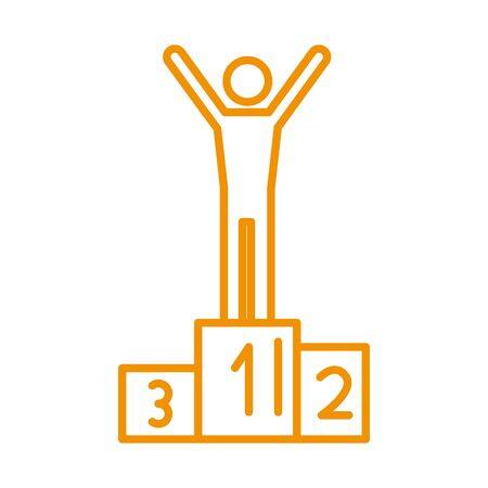 winner figure human in podium vector illustration design Illusztráció