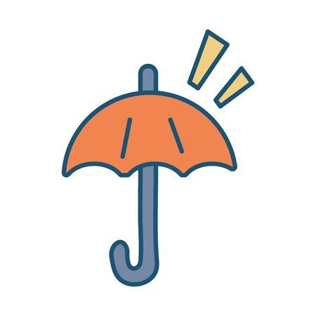 umbrella protection solar accessory icon vector illustration design Ilustração