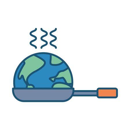 world planet earth in pan vector illustration design