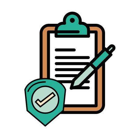 checklist clipboard document with check symbol vector illustration design