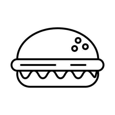 delicious burger fast food icon vector illustration design