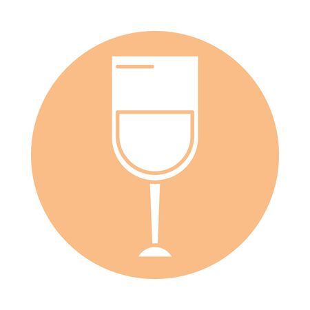 wine cup drink isolated icon vector illustration design