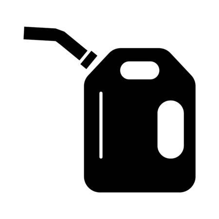 gallon oil tank isolated flat style icon vector illustration design