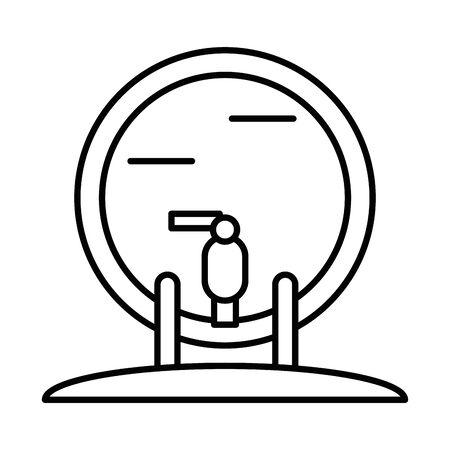 wine barrel drink isolated icon vector illustration design
