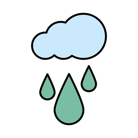 cloud with rain drops icon vector illustration design
