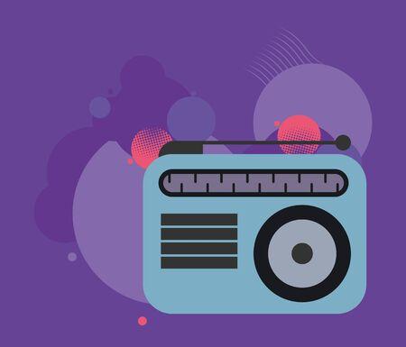 radio music player isolated icon vector illustration design Ilustracja