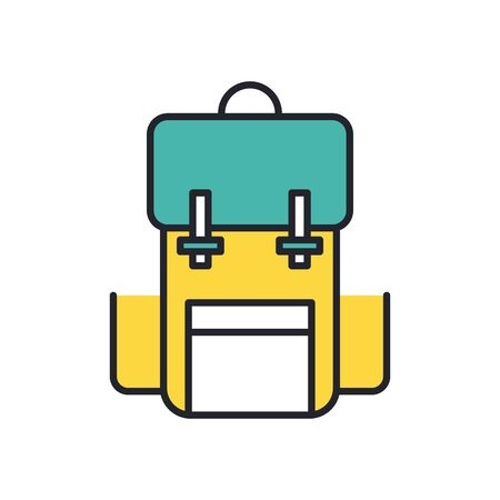 military travel bag line and fill style icon vector illustration design Ilustração