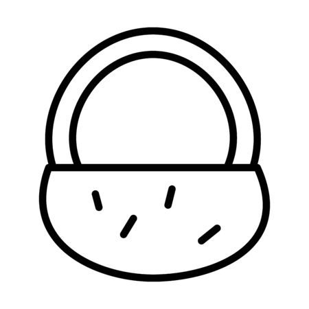 basket straw line style icon vector illustration design