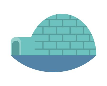 igloo ice construction isolated icon vector illustration design