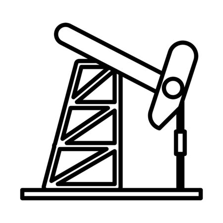 drill refinery plant isolated icon vector illustration design