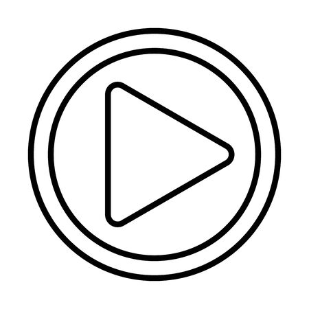 play button media player icon vector illustration design