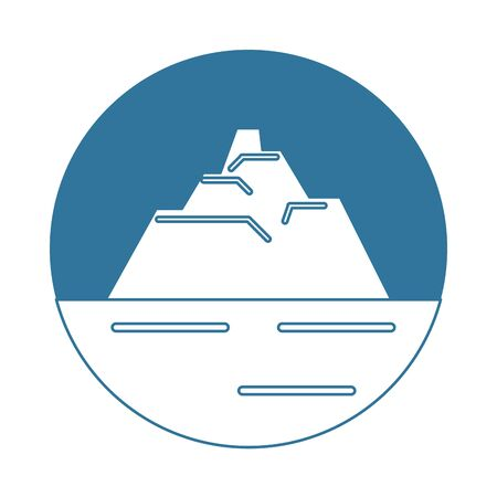 iceberg floating in the water vector illustration design