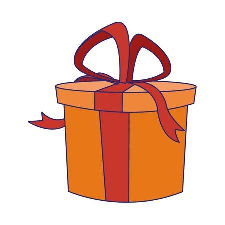 gift box icon over white background, vector illustration Stock Illustratie