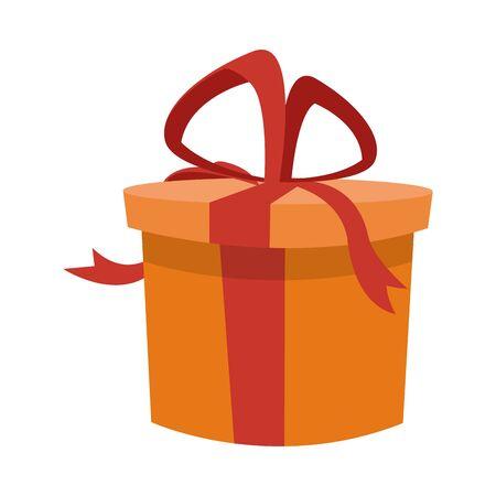 gift box icon over white background, colorful design, vector illustration Banco de Imagens - 140721920