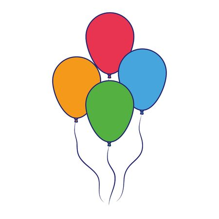 party balloons icon over white background, vector illustration Ilustrace