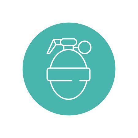 grenade military force line block style vector illustration design