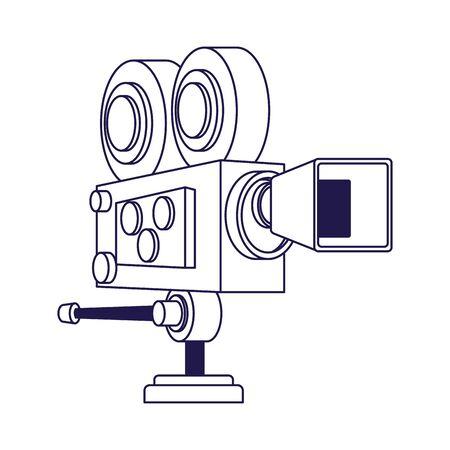 cinema camera icon over white background, flat design, vector illustration 向量圖像