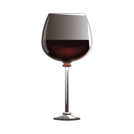 wine glass icon over white background, colorful design, vector illustration