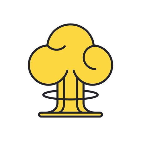 nuclear bomb explosion military force icon vector illustration design