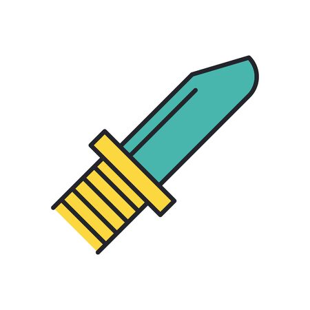 knife weapon military force line and fill style icon vector illustration design