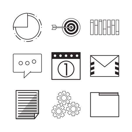 business and statistics set icons vector illustration design Ilustrace