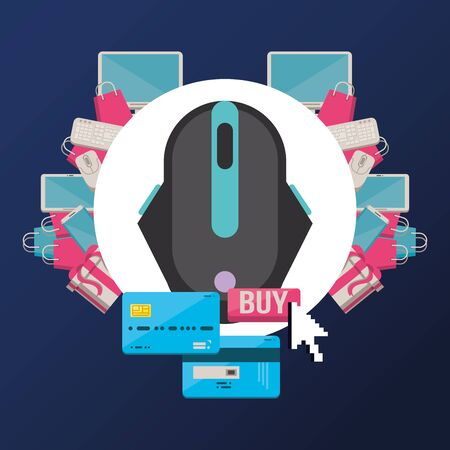 computer mouse hardware isolated icon vector illustration design