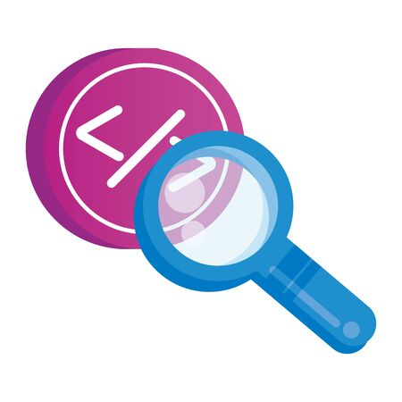 search magnifying glass isolated icon vector illustration design Ilustrace