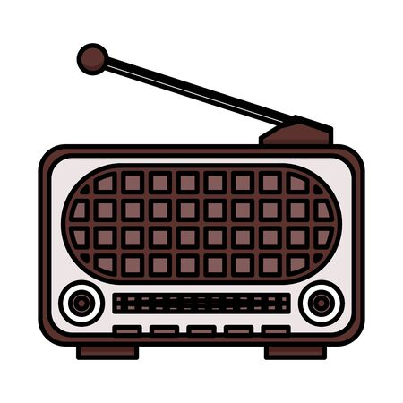 radio old device isolated icon vector illustration design Vektoros illusztráció