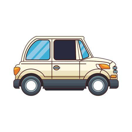 classic car icon over white background, colorful design, vector illustration