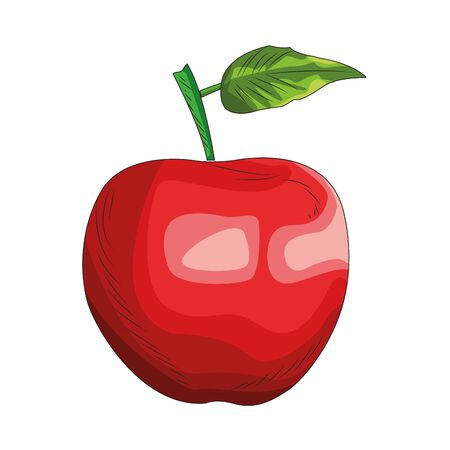 apple fruit icon over white background, vector illustration
